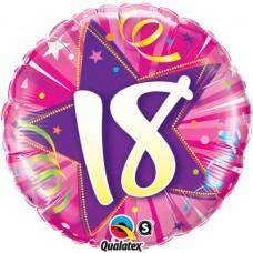 Folija balon - 18 zvezda roza