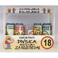 Mini pivska gajba za 18 let