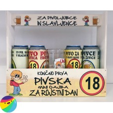 Mini pivska gajba za 18 let