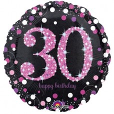 Folija balon - 30 Holografski roza