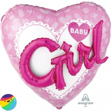 Folija balon - Baby Girl 3D effect