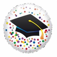 Folija balon - Diplomski klobuk s konfeti