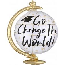 Folija balon - Go Change The World v obliki globusa