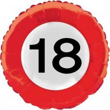 Folija balon - Prometni znak 18