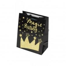 Darilna vrečka Magic Birthday črna
