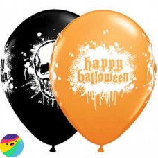 Balon Happy Halloween z lobanjo