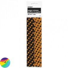 Slamice črno oranžne