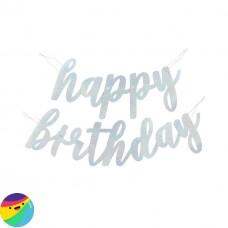 Napis Happy Birthday z bleščicami