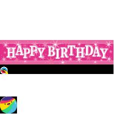 Holografski napis Happy Birthday