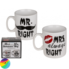 Set XXL lončkov MR right & MRS. always right
