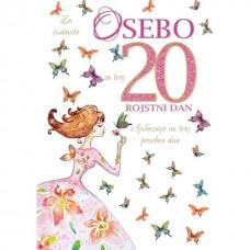 Voščilnica - 20 Oseba