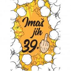 Voščilnica - 39 + prst