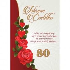 Voščilnica - 80 Vrtnica