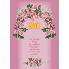 Voščilnica - 80 Rožice