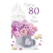 Voščilnica - 80 Roza vrtnice