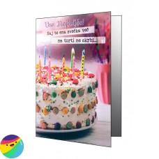 Voščilnica - Naj te ena svečka več na torti ne skrbi