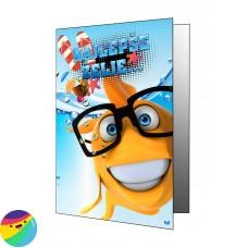 Voščilnica - Riba z očali