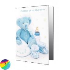 Voščilnica - Moder medvedek