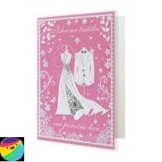 Voščilnica - Iskrene čestitke na poročni dan