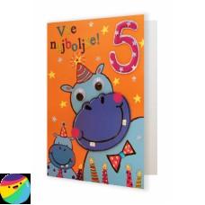 Voščilnica - Za 5. rojstni dan