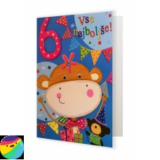 Voščilnica - Za 6. rojstni dan